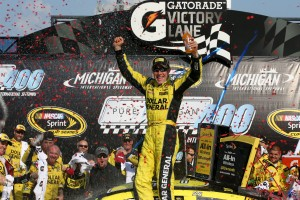 Matt Kenseth took the win at Michigan, the second race this year using a new high-drag aerodynamic rules package.