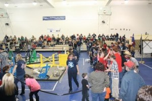 The competition in progress in the campus gymnasium during last year's BEST at Penn State DuBois. (Provided photo)