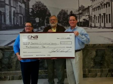 Historical Society Receives Donation for Annual Dinner Banquet