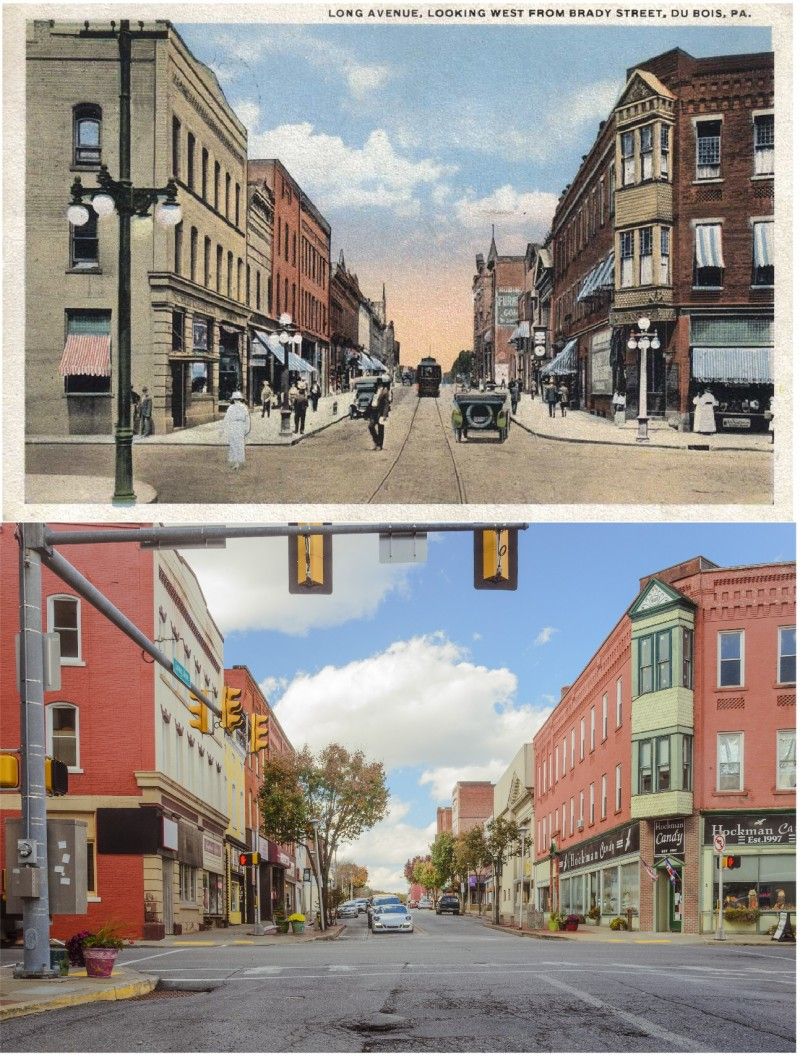 Then & Now:  West Long Avenue in DuBois