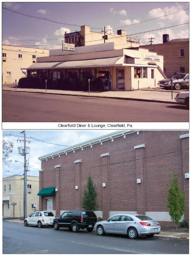 Then and Now:  Locust Street, Clearfield