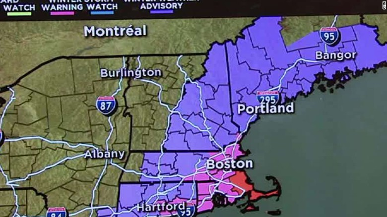 Eastern New England braces for blizzard warning