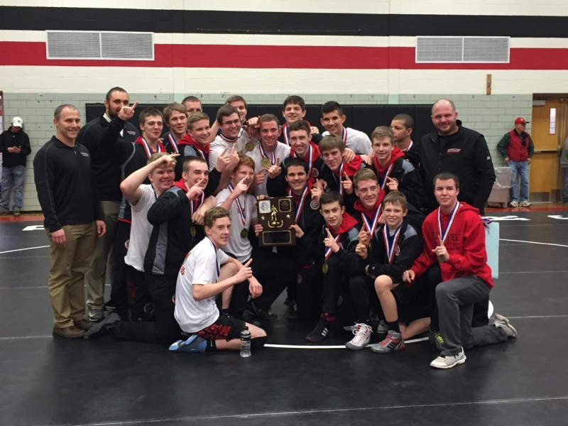 Clearfield Wins District 9 Team Wrestling Championship, 29-28