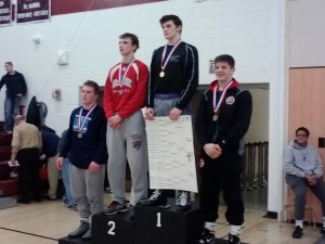 Luke McGonigal on the medal stand at 170 (Photo by Jay Siegel)