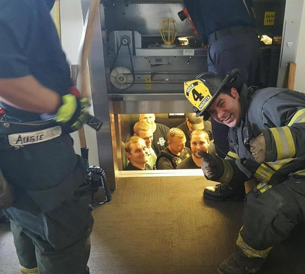 What do you call 12 police officers stuck in an elevator? Internet gold