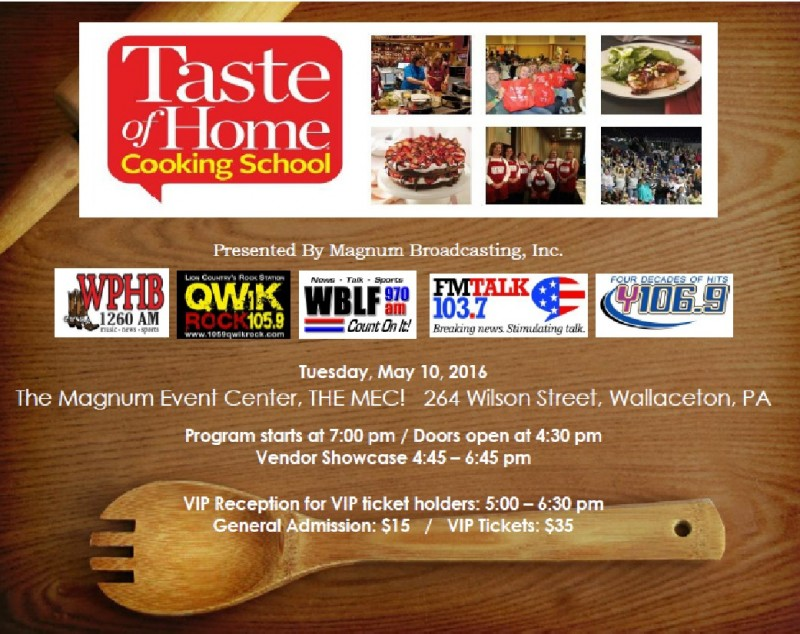Last Chance:  Enter to win Tickets to the Taste of Home Cooking School