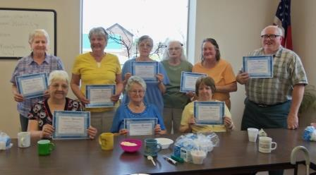 Coalport Center for Active Living Volunteers are pictured, in the front row from left to right, Kathy Coxey, Norma Irvine and Joyce Ammerman. Standing are Naomi Miles, Patsy Adam, Pegi Dimmick, Linda Hull, Gayle Warfel, and Ben Warfel. (Provided photo)