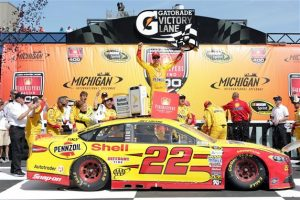 Joey Logano clinched his spot in the Chase as NASCAR tested out yet another aerodynamic package.
