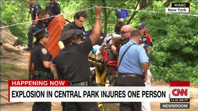 Man severely injured in explosion in New York's Central Park