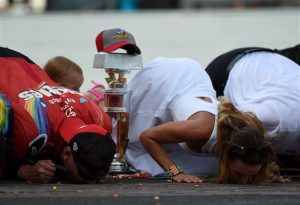That's one nasty kiss, but it's one drivers long to be a part of.