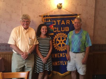 Curwensville Rotary Hears about Speech Contest