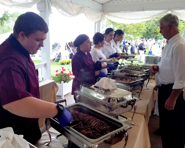 CCCTC Culinary Students Work at Wedding at Local Country Club