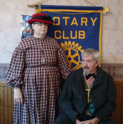 Aaron  Presents Program to Curwensville Rotary