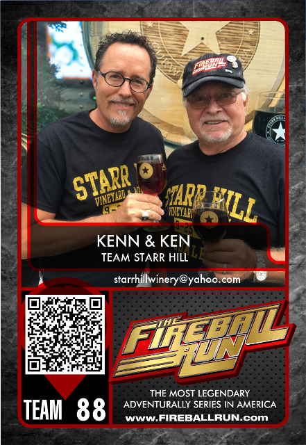 Team Starr Hill in Race to Recover America's Missing Children, Fireball Run Adventure-Travel Series