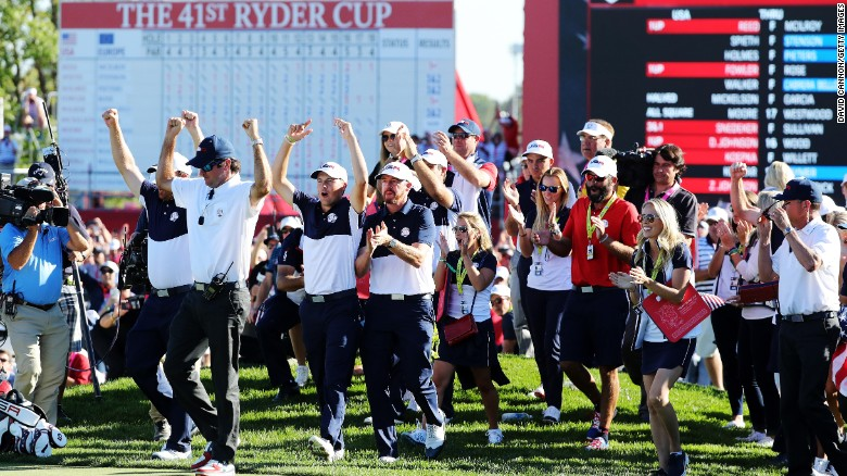 Ryder Cup: US dominates Europe to reclaim trophy on home soil