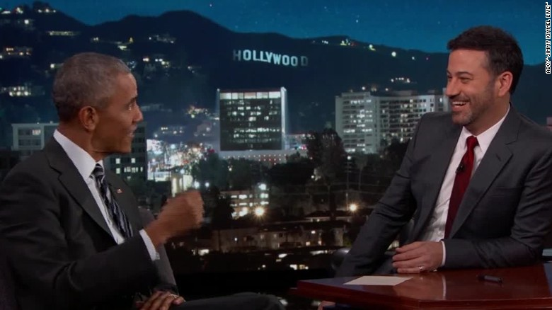 Obama reads mean tweet from Trump