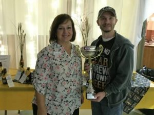 Carolyn Smeal, event coordinator, and Jamie Owens, Best of Show winner (Provided photo)