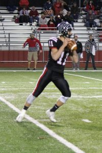 Sophomore QB Isaac Rumery tossed two TDs, with no picks (Photo by Dustin Parks)