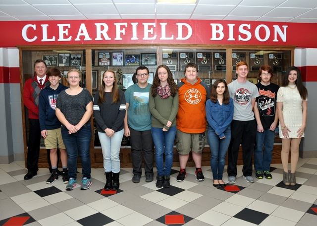 Clearfield Announces Students of the Month for November