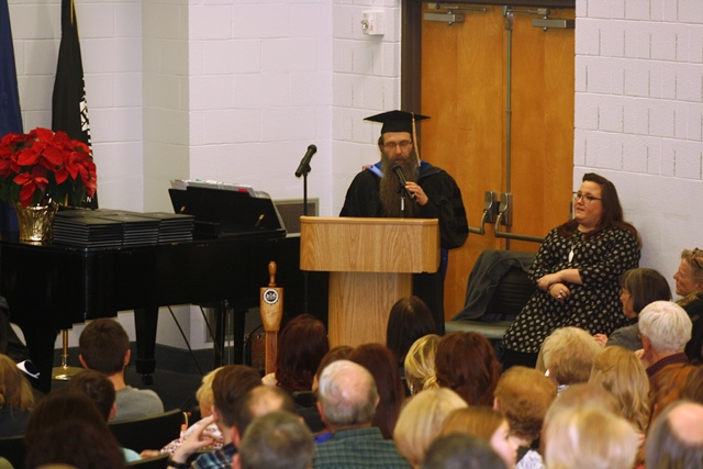Tolle Highlights Value of Education at Penn State DuBois Fall Commencement