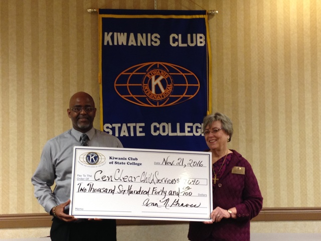 Kiwanis Club of State College Awards Funding to Cen-Clear