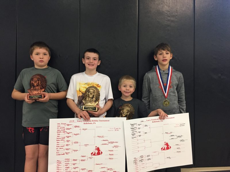 Clearfield Youth Wrestlers Place at Bellefonte Larry Fornicola Tourney