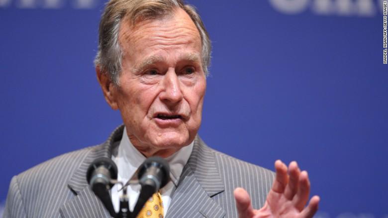 George H.W. Bush hospitalized since Saturday, spokesman says