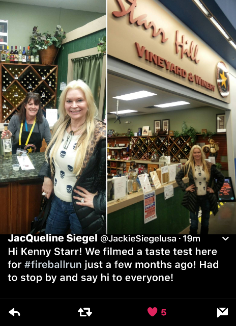 Fireball Run Star Visits Star Hill Shop in DuBois