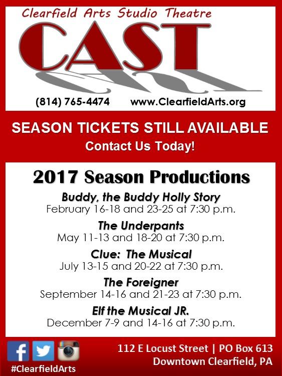 CAST Season Tickets Still Available