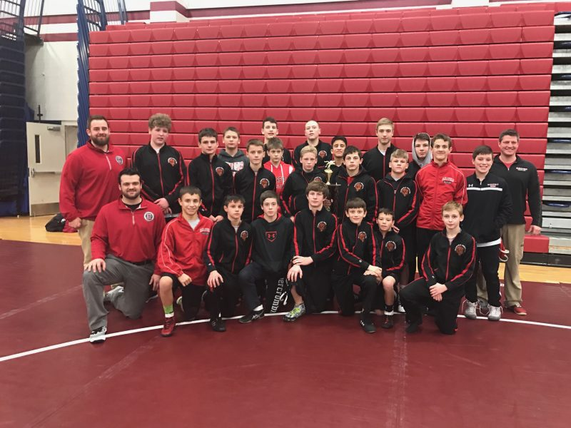 Clearfield Junior High Wrestling Team Takes Second at Shikellamy Dual Tourney