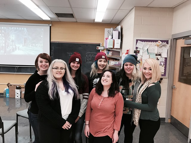 CCCTC Cosmetology Students Pay It Forward