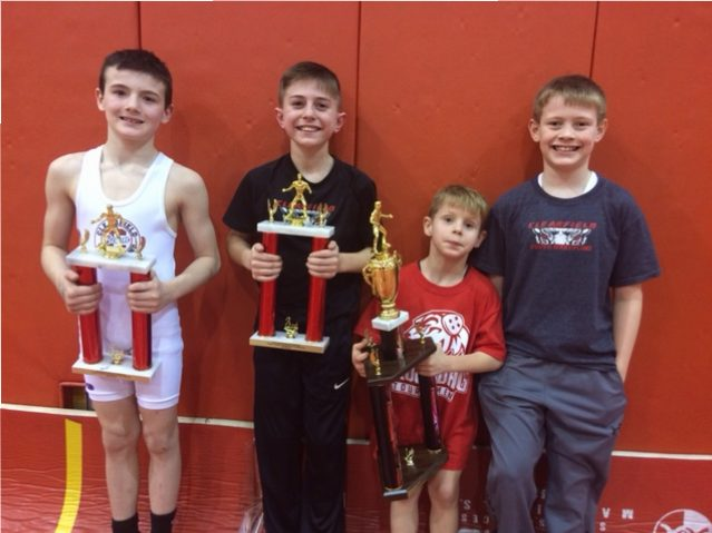 Clearfield Elementary Wrestlers Compete at Groundhog Tourney