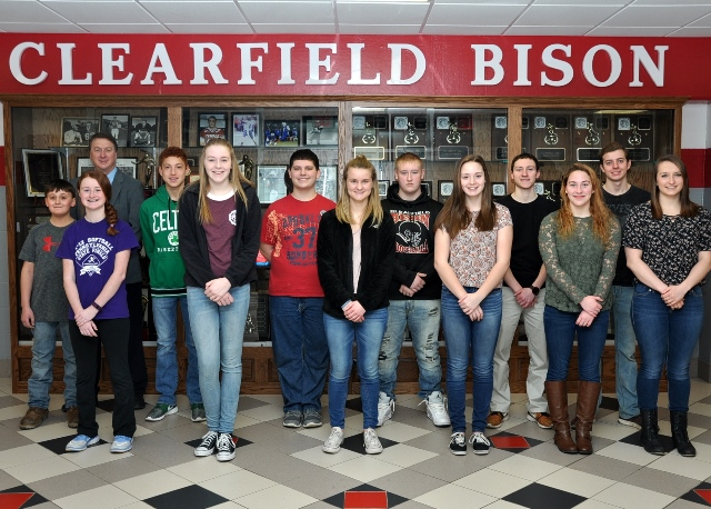 Clearfield Students of the Month for February