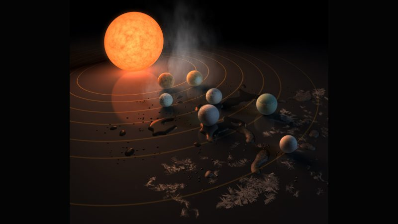 Astronomers discover 7 Earth-like planets orbiting nearby star