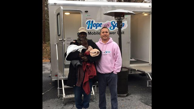 Serving homeless people with hope, one shower at a time