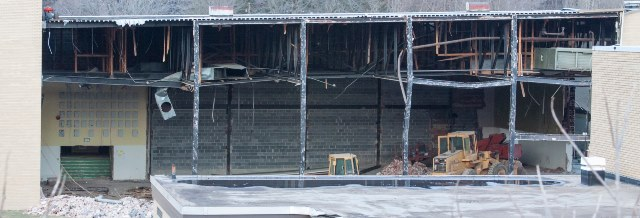 SWAY PHOTO SLIDESHOW: Deconstruction of Former Clearfield Middle School