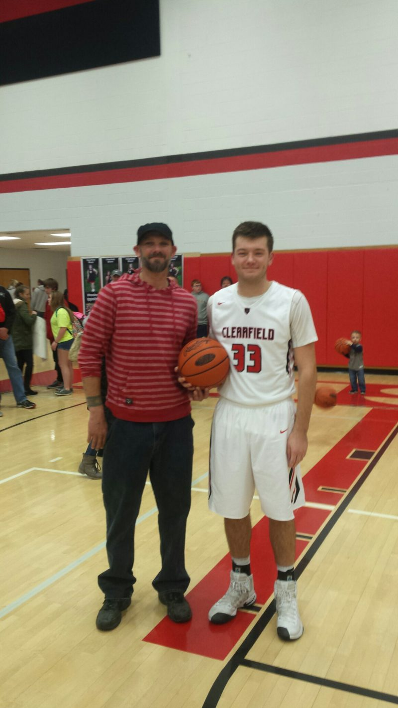Myers Breaks Clearfield Boys Basketball Career Scoring Record in 85-37 Victory Over Curwensville
