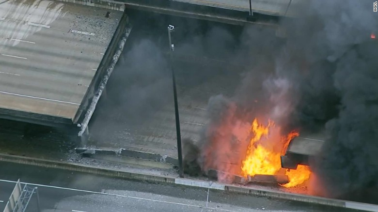 I-85 collapse: Major north-south artery closed as spring break travel kicks off