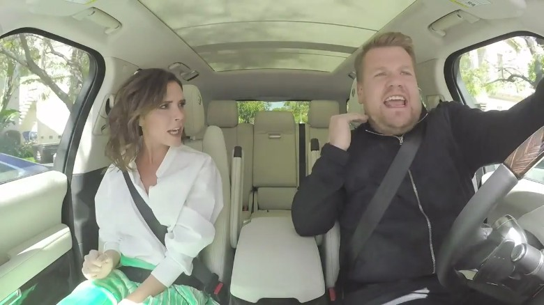 Victoria Beckham spices up 'Carpool Karaoke'