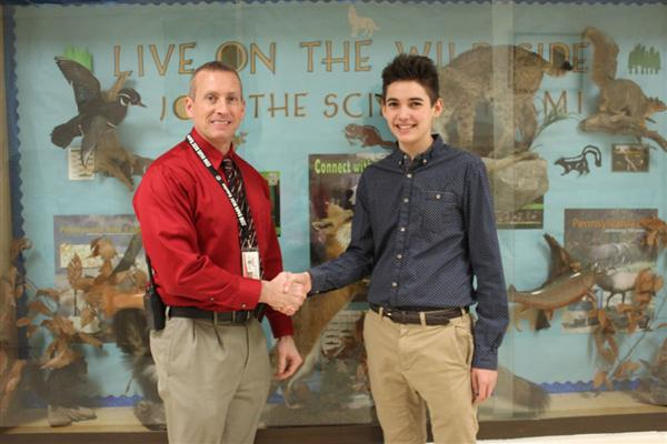 Giles Claims First Place at Pennsylvania Junior Academy of Science Regional Competition