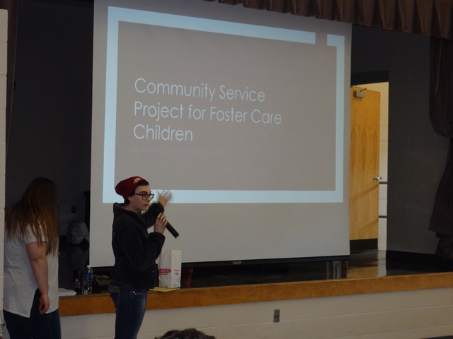 SkillsUSA Community Service Team's Project to Benefit Foster Care Students