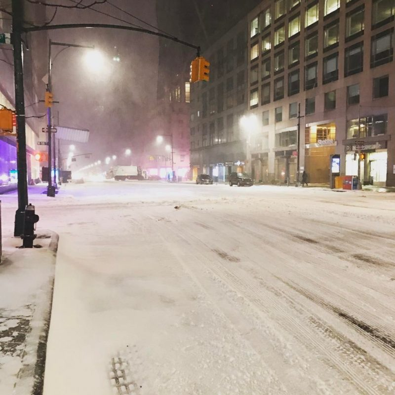 Snow storm moves north as blizzard warning remains in some areas