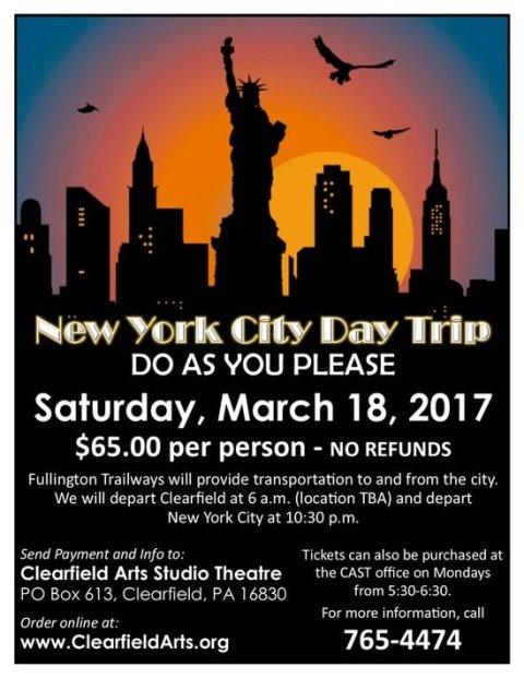 CAST Plans New York City Bus Trip