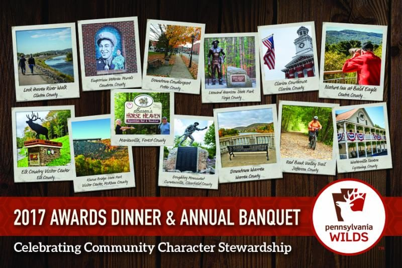 Annual PA Wilds Awards Dinner, 'Celebrating Community Character Stewardship,' is April 27