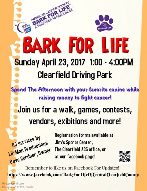 Bark for Life Event is April 23