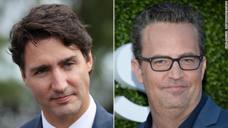 Justin Trudeau challenges actor Matthew Perry to fight rematch