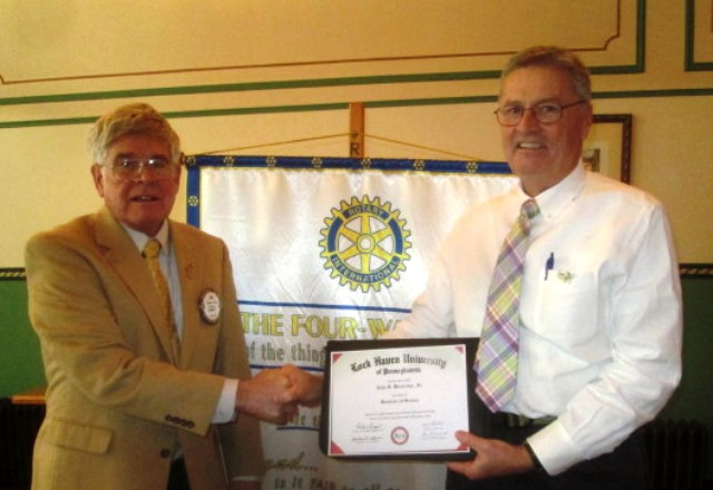 Clearfield Rotarian Speaks at Club Meeting