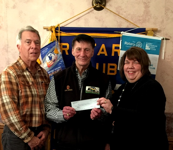 Curwensville Rotary Welcomes Coordinator of  Squirrel Tails for Trout
