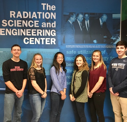 Chemistry Students Visit Radiation Science and Engineering Center at PSU