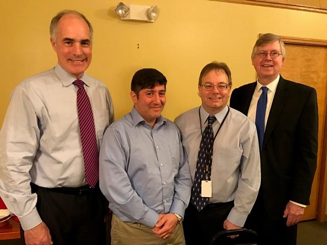 Senator Casey Visits Clearfield County, Meets with Commissioners